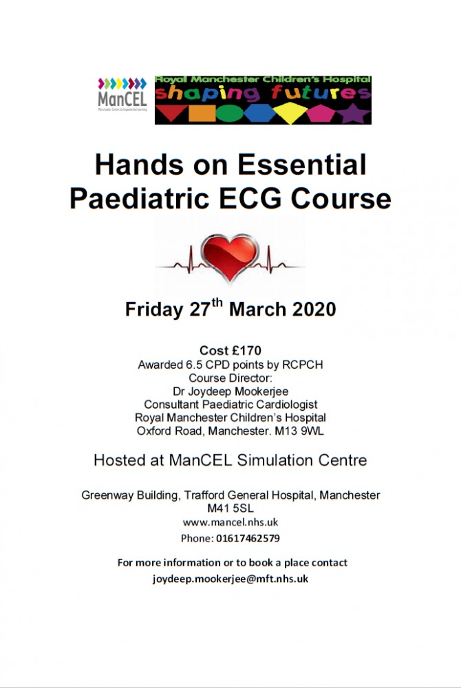27th March 2020 Paediatric ECG Course Poster